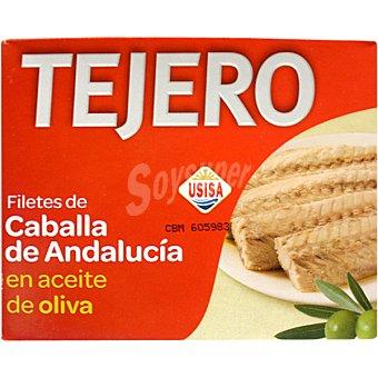 Tejero Filetes de caballa en aceite de oliva de Andalucia lata 160 g neto escurrido Lata 160 g neto escurrido