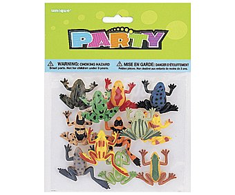 Party Relleno para piñatas, ranas tropicales de plástico 12 unidades