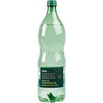 Eroski Agua con gas Botella 1,25 litros
