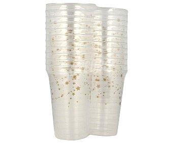 Auchan navidad estrellas 24 vasos de plástico desechable con capacidad de , decorado Navidad Estrellas AUCHAN. 0.3 litros