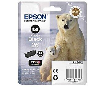 Polar Cartucho de tinta epson 26 Oso , negro fotográfico Oso Polar, negro fotográfico