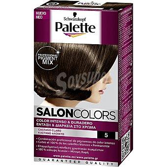 Schwarzkopf Palette Tinte nº 5 Castaño Claro color intenso y duradero Salon Colors Caja 1 unidad