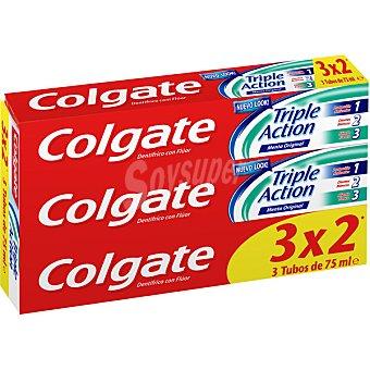 Colgate Pasta de dientes Triple Accion pack 3 tubo 75 ml Pack 3 tubo 75 ml