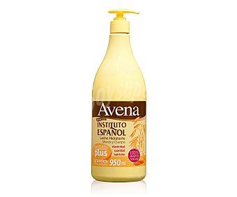 INSTITUTO ESPAÑOL leche hidratante de avena para cuerpo y manos dosificador 950 ml