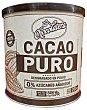CACAO POLVO PURO SIN AZUCAR BOTE 250 g CHOCOLATERA