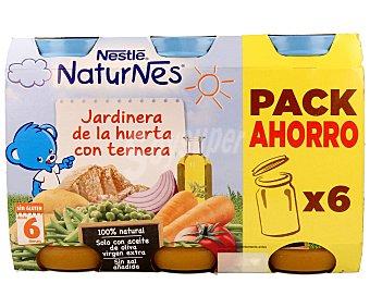 Nestlé Tarrito de jardinera de ternera Pack de 6x250 g