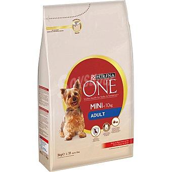 Purina One Weight control pienso para perros adultos de raza mini - 10 kg rico en pavo con arroz bolsa 1,5 kg 10 kg
