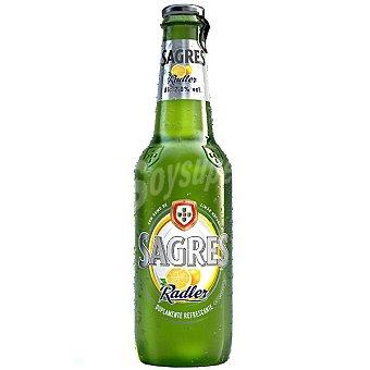 Sagres Cerveza rubia con zumo de limón natural Radler Botella 33 cl