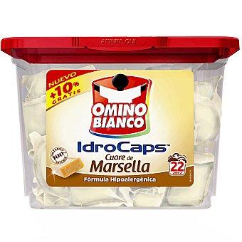 Omino Bianco Detergente máquina líquido con jabón natural de Marsella envase 22 cápsulas Envase 22 c