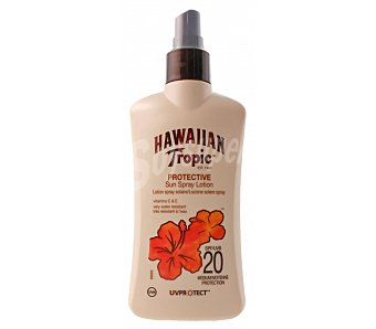 Hawaiian Tropic Loción solar spray FP 20 200 ml