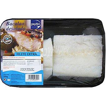 GAYTAN Bacalao desalado filete extra Bandeja 350 g