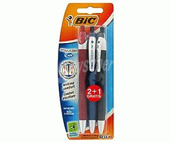 Bic Bolígrafos Tinta Gel 3 Colores 3 Unidades