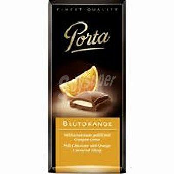 Porta Chocolate con leche relleno de naranja Tableta 100 g
