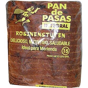 NATURPAN pan de pasas integral precortado Unidad 370 g