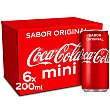 Refresco de cola normal Pack 6 latas x 25 cl Coca-Cola