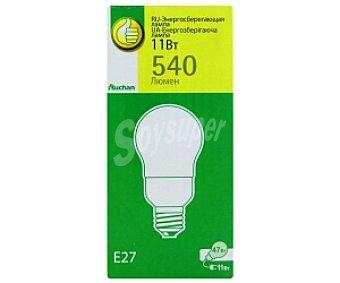 Productos Económicos Alcampo Bombilla ahorro estándar, luz cálida, E27, 11W, vida útlil estimada 6000Hrs 1 Unidad