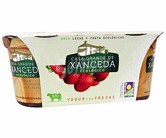 Casa Grande de Xanceda Yogur con fresas ecológico Pack 2x125 gramos