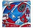 Arcanojet Spiderman Marvel Super Hero Adventures, incluye figura spiderman Mega Mighties  Spider-Man