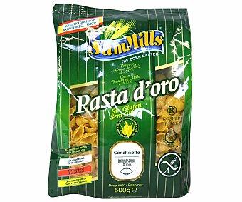 Sam Mills Conchigliette sin gluten (no contiene glutén, trigo, leche, levadura, sal y soya) 500 gramos