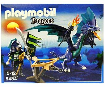 PLAYMOBIL Dragón Guerrero Verde con Catapulta, Modelo 5484 1 Unidad