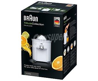 BRAUN CJ3050, 60W Exprimidor directo al vaso de potencia, 1 velocidad, antigoteo, control automático de encendido y apagado,