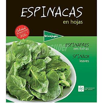 El Corte Inglés Espinacas en hojas Bolsa 1 kg