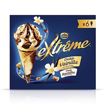 Extrême Nestlé Conos con helado de doble vainilla con almendras 6 ud 6 ud