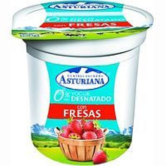 Central Lechera Asturiana Yogur desnatado de fresa Tarro 125 g
