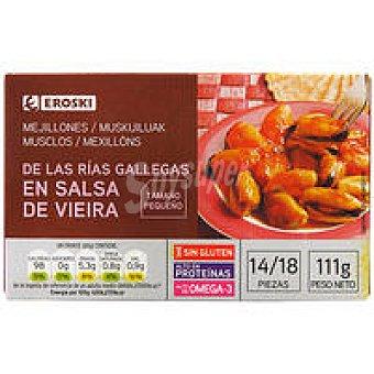 Eroski Mejillón en salsa de vieira 14/18 piezas Lata 111 g