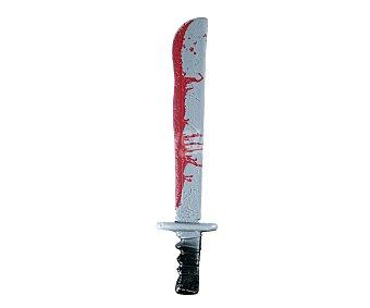 My other me Complemento para disfraz de Halloween Machete con sangre de 61 centímetros, Machete sangriento