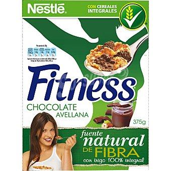 NESTLE FITNESS Cereales de desayuno integrales con chocolate y avellanas Paquete de 375 g