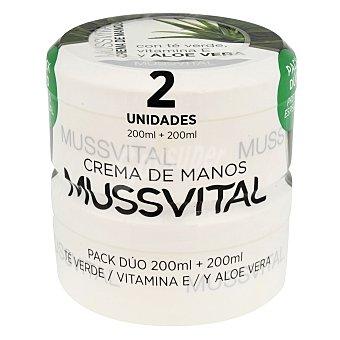 Mussvital Tarros de manos de aloe Pack 2x200 ml