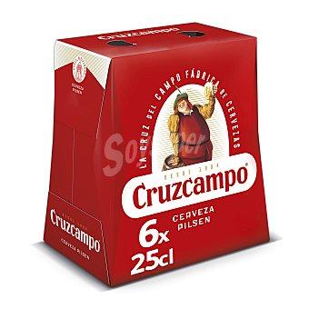 Cruzcampo Cerveza rubia punto glacial Pack 6 botellines x 25 cl
