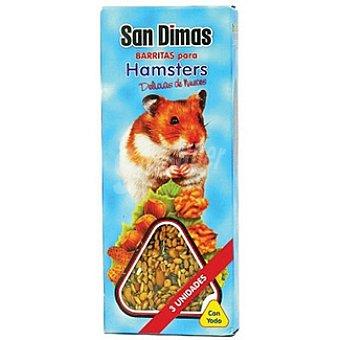San Dimas Barritas para hámsteres paquete 240 g 3 unidades