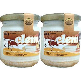 CLEM Yogur con mermelada de melocotón Pack 2 unidades 200 g
