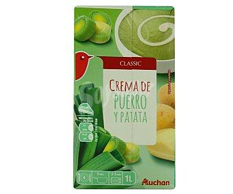 Auchan Crema de puerros y patatas 1 litro