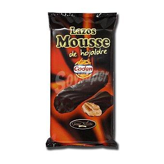 Codan Lazos mousse de hojaldre bañados en chocolate 145 gramos