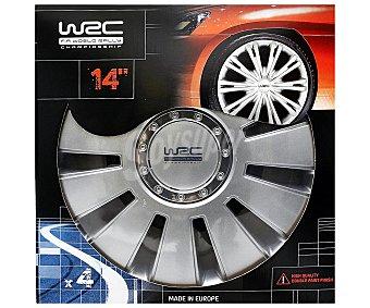 """WRC Lote de 4 Tapacubos con Acabado en Color Gris y para Ruedas de 14"""" 1 Unidad"""