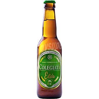 Colegiata Estela cerveza rubia artesana de Cantabria Doble Fermentación Botella 33 cl