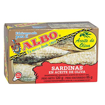 Albo Sardinas en aceite oliva 85 g peso escurrido