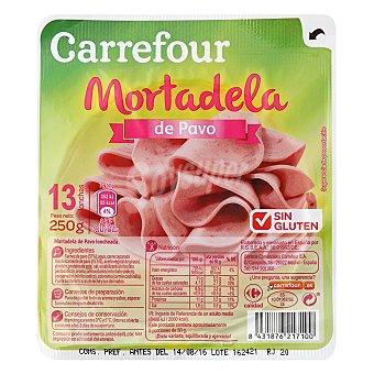 Carrefour Mortadela pavo - Sin Gluten 250 g