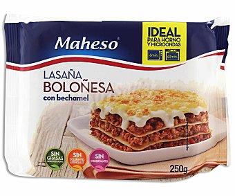 Maheso Lasaña boloñesa con bechamel 250 gramos