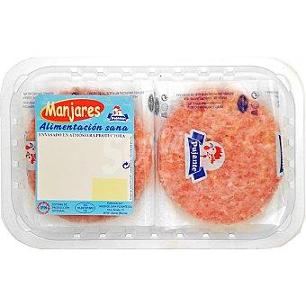 PUJANTE Hamburguesas de pollo bandeja 320 g 4 unidades
