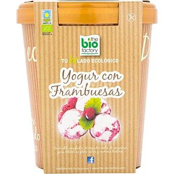 Helado ecológico de yogur con frambuesas sin gluten Tarrina 500 ml