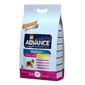 ADVANCE MEDIUM Pienso para perros senior +7 años Advance Medium pollo y arroz 3 Kg