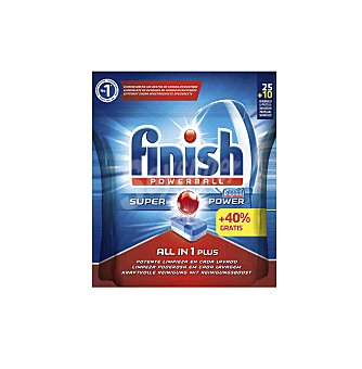 Finish Lavavajillas Todo en 1 Finish 35 (25 + 10 Gratis) 35 dosi