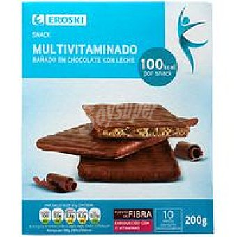 Eroski Snacks de chocolate-leche Caja 200 g