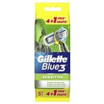 Gillette Maquinilla desechable Blue3 sensitive 4+1u