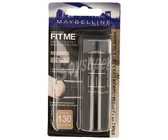 Maybelline New York Base maquillaje stick nº 130 (maquillaje + polvos matificantes anti-brillos) 1 unidad