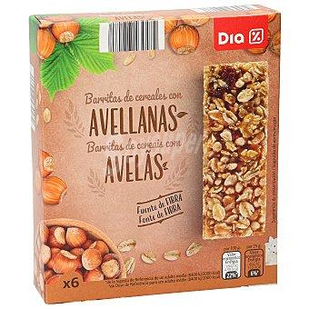 DIA Barritas de cereales muesli con avellana estuche 150 gr Estuche 150 gr